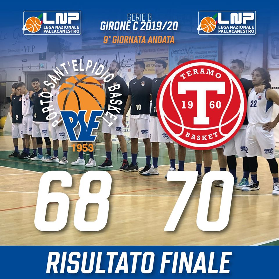 Il Porto Sant'Elpidio Basket sconfitto in casa dal Teramo Basket - Serie B Girone C - Basketmarche.it