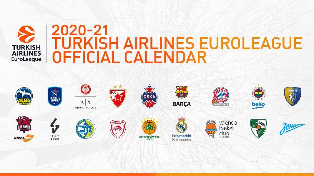 Il calendario dell'EuroLeague 20/21. Milano riparte da Monaco